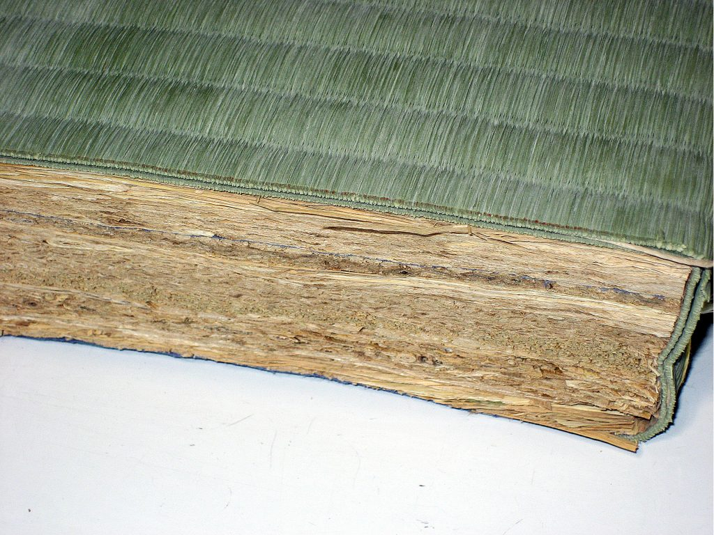 畳の断面図 稲わら床