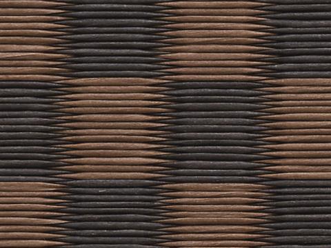 銀白 市松 03 栗色×胡桃色